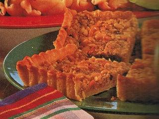 Pinenut and pesto tart