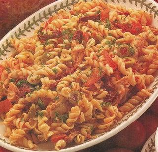 Three tomato pasta salad