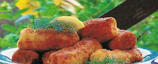 Fresh salmon croquettes
