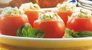 Summer tomatoes with feta and basil