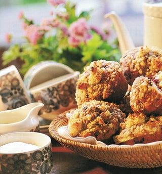 Boysenberry ripple muffins