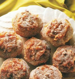 Peach and yoghurt muffins