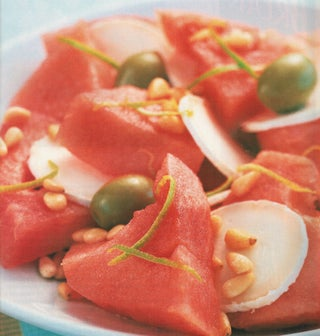 Watermelon and goat's cheese salad