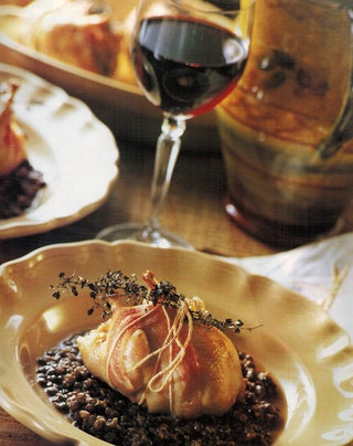 Quail With Fresh Thyme  and Puy Lentils