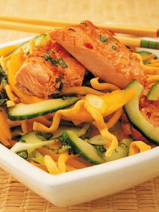 Thai Grilled Salmon With Crispy Noodle Salad