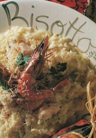 Prawn and cabbage risotto