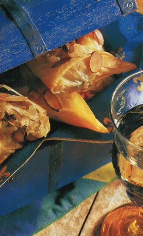 Chicken almond filo surprises