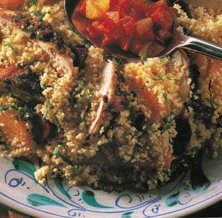 Quick Thai chicken on citrus couscous