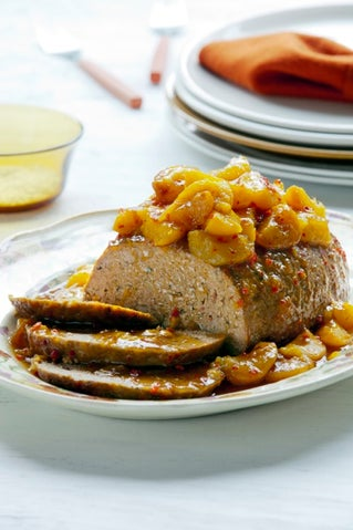 Moroccan meatloaf with chilli apricot glaze