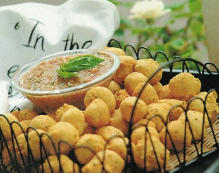 Hushpuppies with Creole tomato dip
