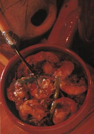 Fresh prawns in garlic and paprika