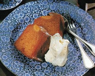Rich honey and mandarin cake