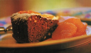 Mellow gingerbread with caramel oranges