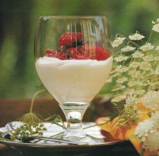 Summer berries with fromage frais creme