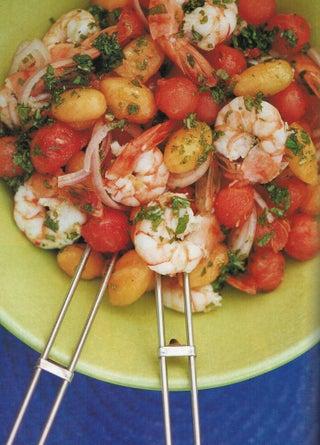 Melon and prawn salad