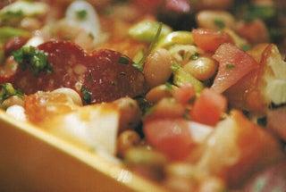 Mediterranean smoked fish salad