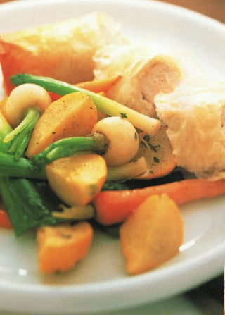Chicken with walnut paste or cheese in filo