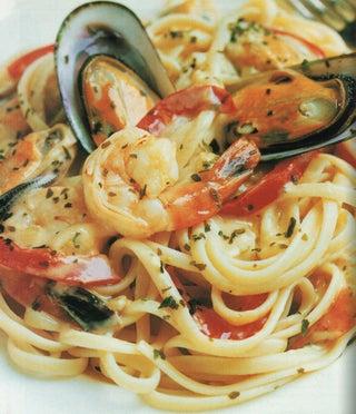 Southern seas sauce on linguine