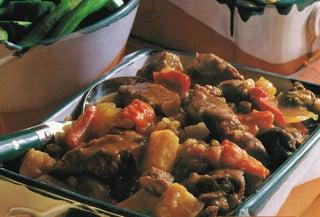 Spiced lamb and barley hotpot