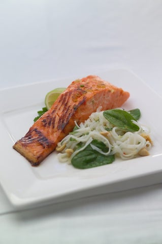 Thai inspired cured salmon