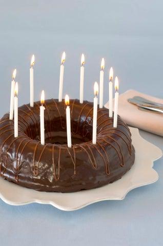 Chocolate jaffa birthday cake