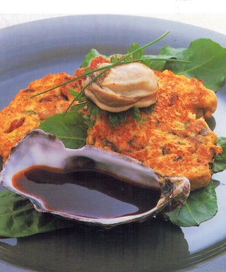 Oyster kilpatrick fritters