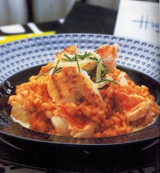 Crayfish and gruyere risotto