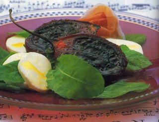 Grilled tamarillos with bocconcini