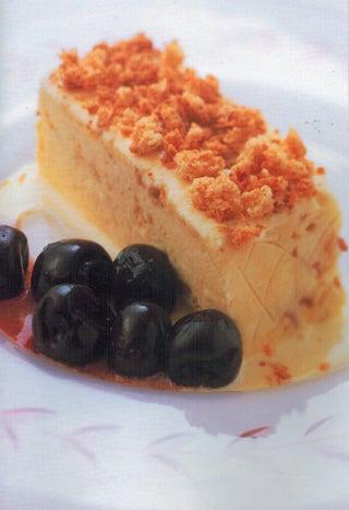 Amaretto tartari with cherry compote