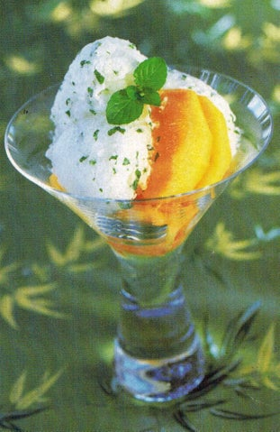 Spearmint and wine sorbet