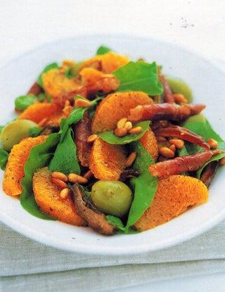 Orange, olive and date salad