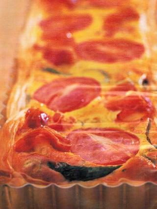 Egg and prosciutto pie