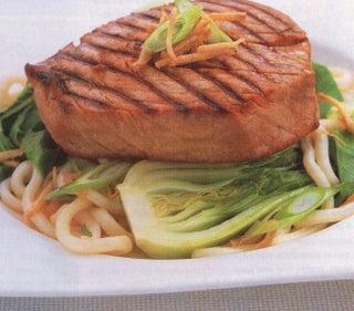 Oriental ginger tuna steaks