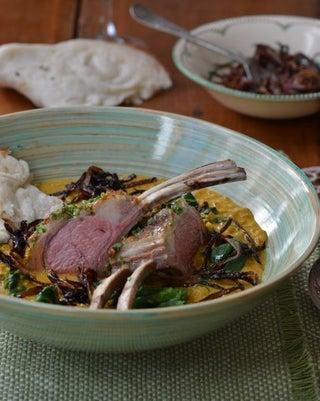 Lamb cutlets korma curry