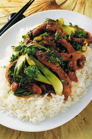 Asian pork with olives