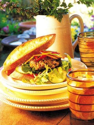 Lamb and feta burgers