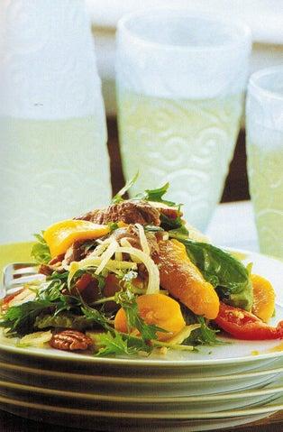 Peppery BBQ lamb salad