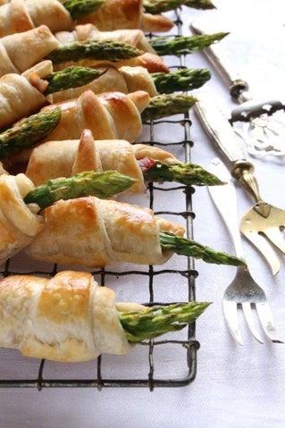 Asparagus and jambon rolls