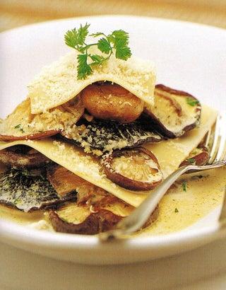 Roast Mushroom And Pasta Stack