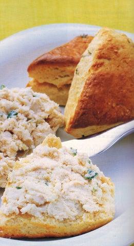 Chicken Rillettes With Mustard Biscuits