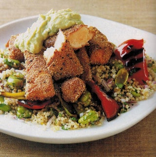 Spice Crusted Fish Or Chicken With Avocado Sauce