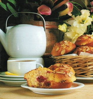 Apricot and raspberry muffins