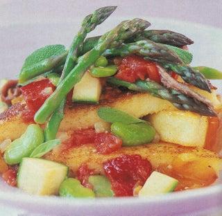 Panfried Polenta With Summer Vegetables