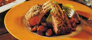 Sesame-crusted Lamb Rack With Glazed Shallots
