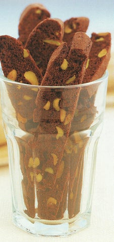 Pistachio Nut Chocolate Biscotti