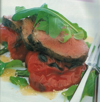 Beef Fillet With Mint Salad and Miso Vinaigrette