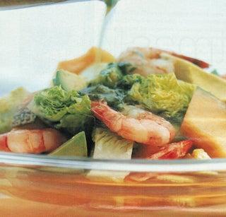 Prawn And Avocado Salad With Avocado Oil Dressing