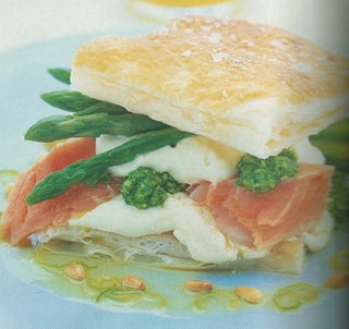 Salmon Salad Sandwich With Rocket Pesto And Lemon Cream