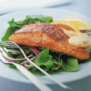 Seared Salmon With Sundried Tomato Aoili