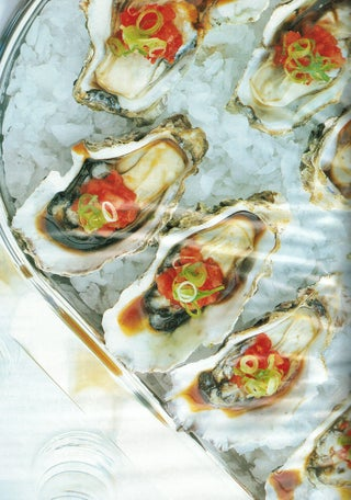 Oysters In The Half Shell With An Asian Salsa